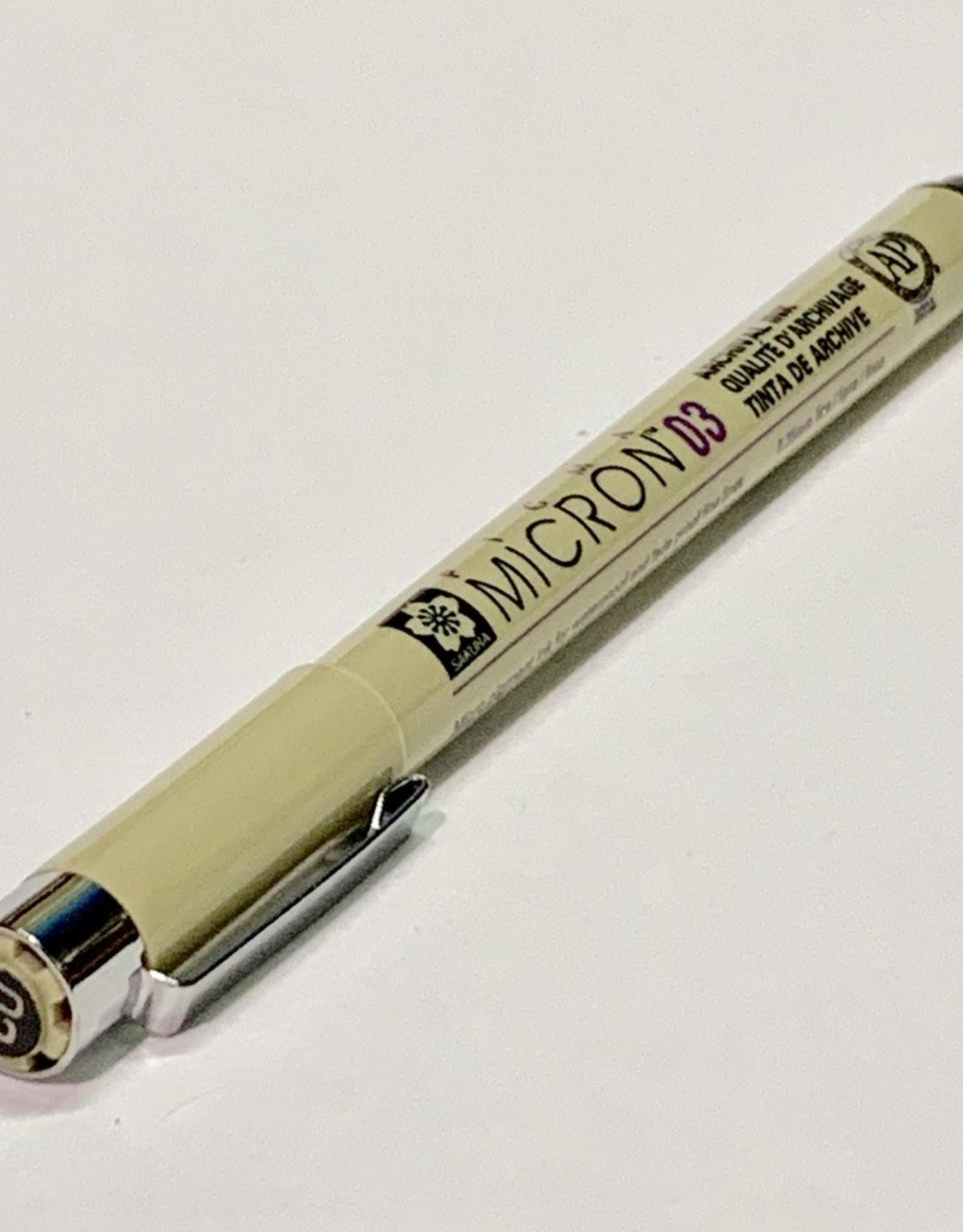 Micron Black Pen 03 .35mm