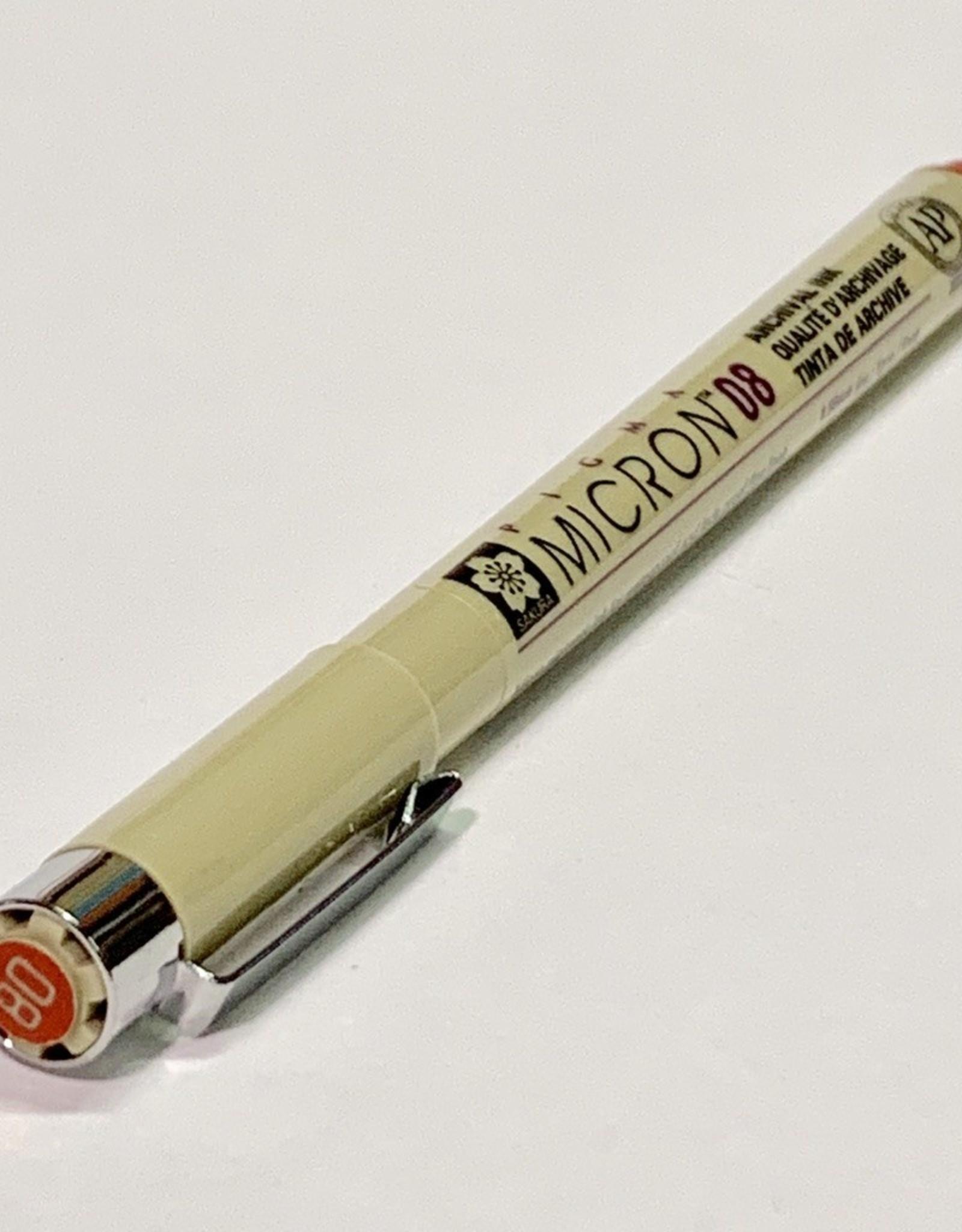 Sakura Micron Red Pen 08 .50mm
