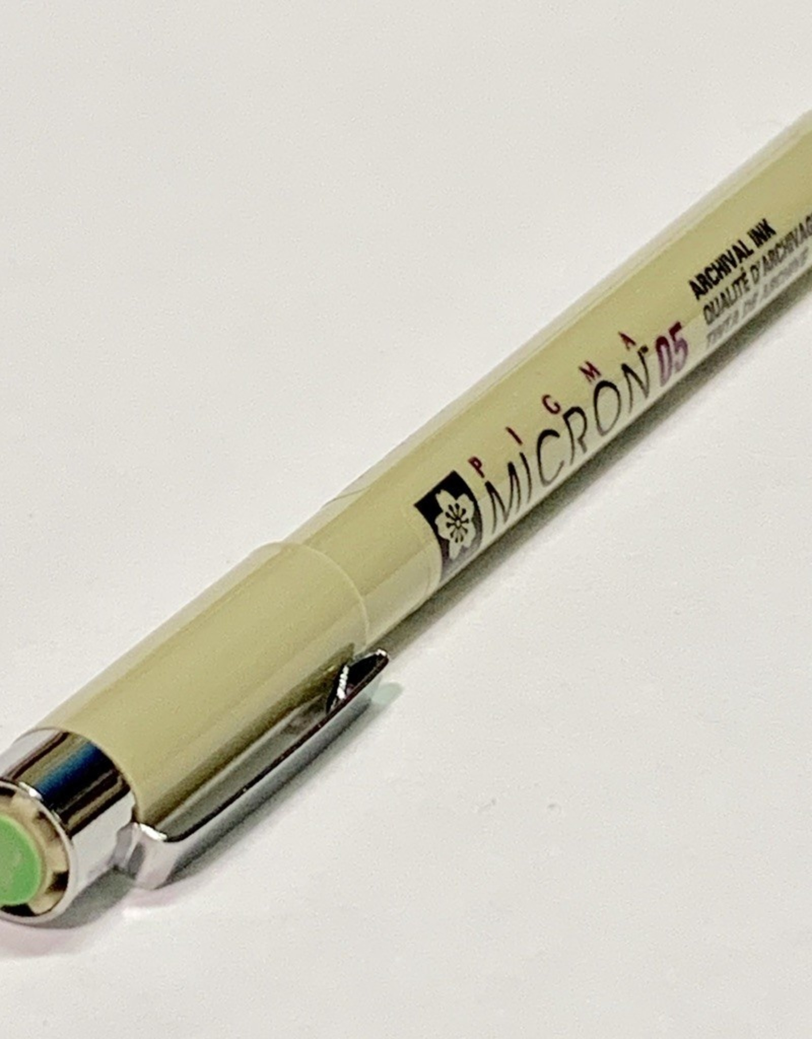 Sakura Micron Lime Green Pen 05 .45mm