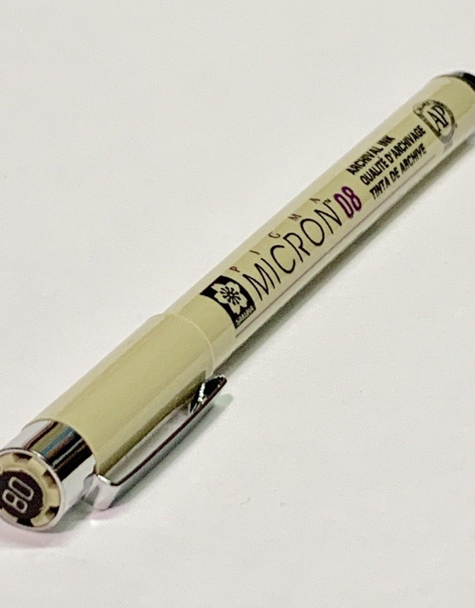 Micron Black Pen 08 .50mm