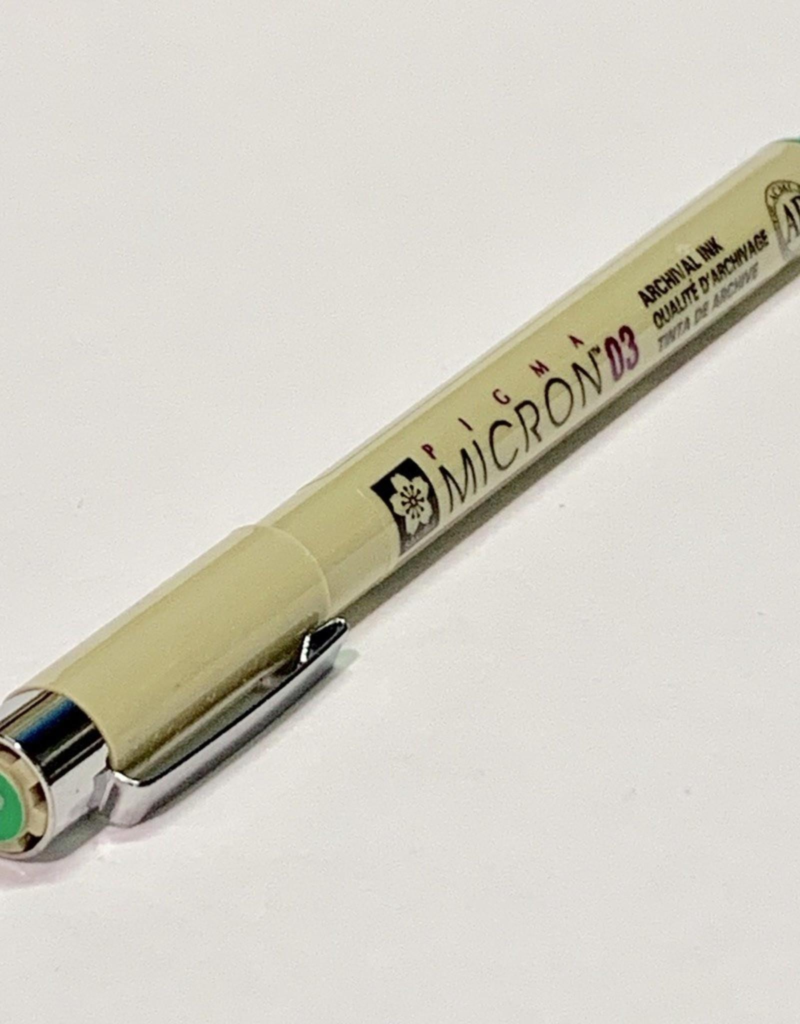 Sakura Micron Green Pen 03 .35mm