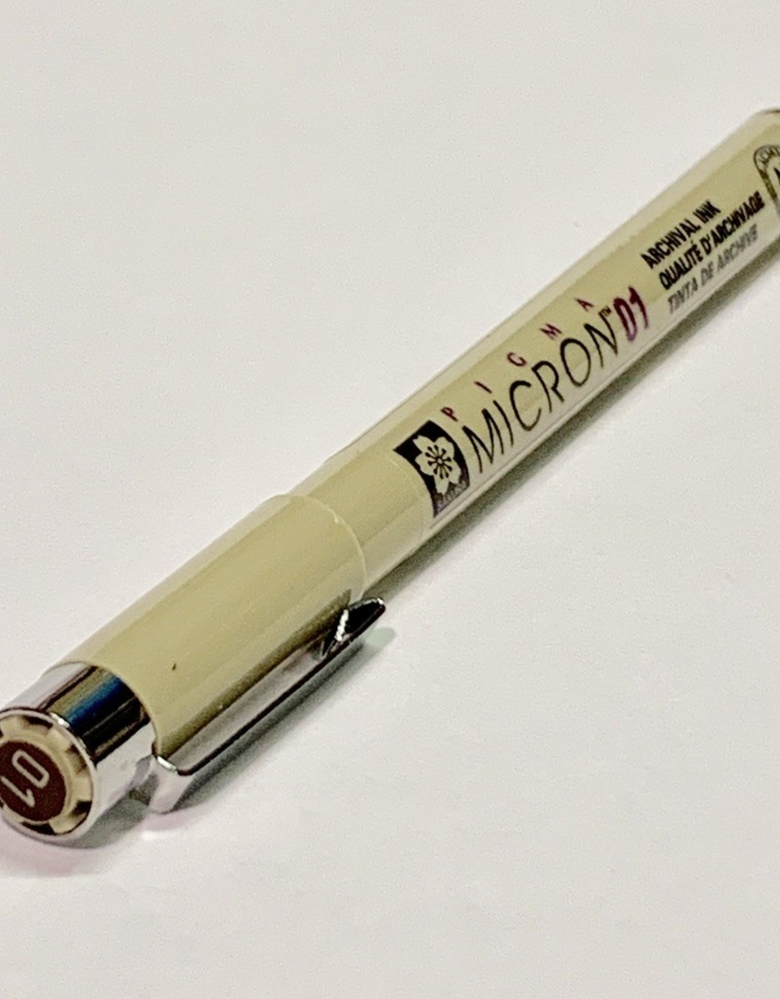 Micron Sepia Pen 01 .25mm