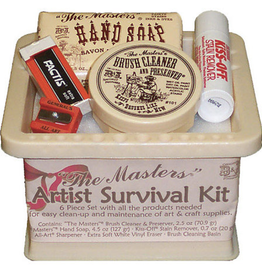 The Masters, Artist Survival Kit: Brush Cleaner, Stain Remover, Sharpener, Hand Soap, Factis Eraser, Brush Cleaning Basin