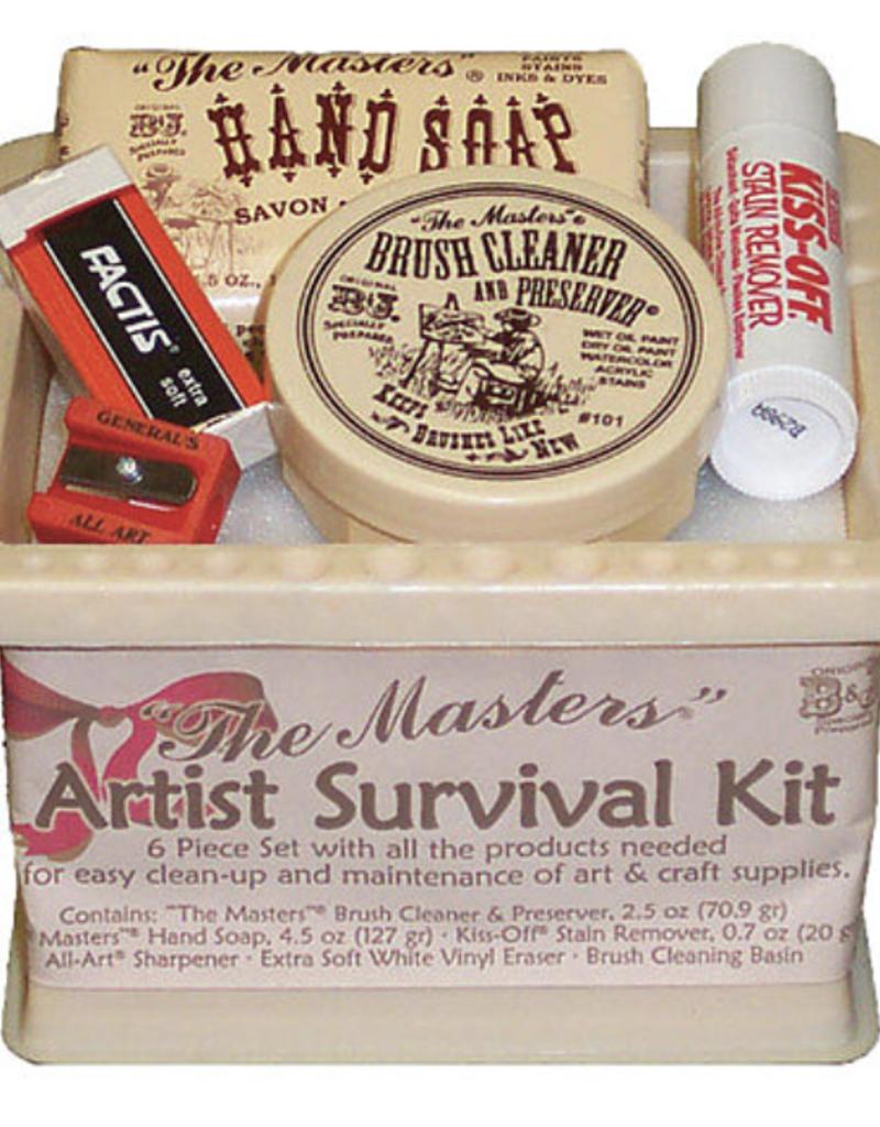 The Masters, Artist Survival Kit: Brush Cleaner, Stain Remover, Sharpener, Hand Soap, Factis Eraser, Brush Cleaning Basin
