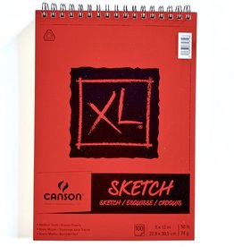 "Canson XL Sketch Book, Wire Bound, 9"" x 12"", 100 sheets"