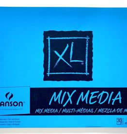 "Canson XL Mixed Media, Perforated Drawing Pad, 18"" x 24"" 30 sheets,"