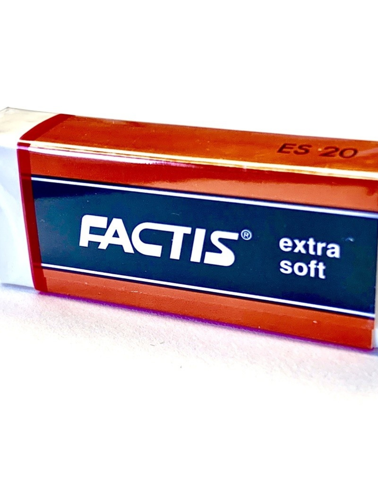 Factis White Vinyl Eraser, Extra Soft