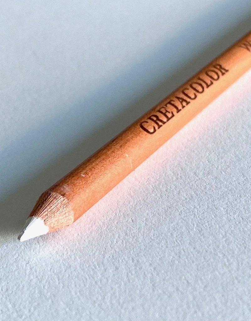 Cretacolor Artist Pencil, White Chalk Medium