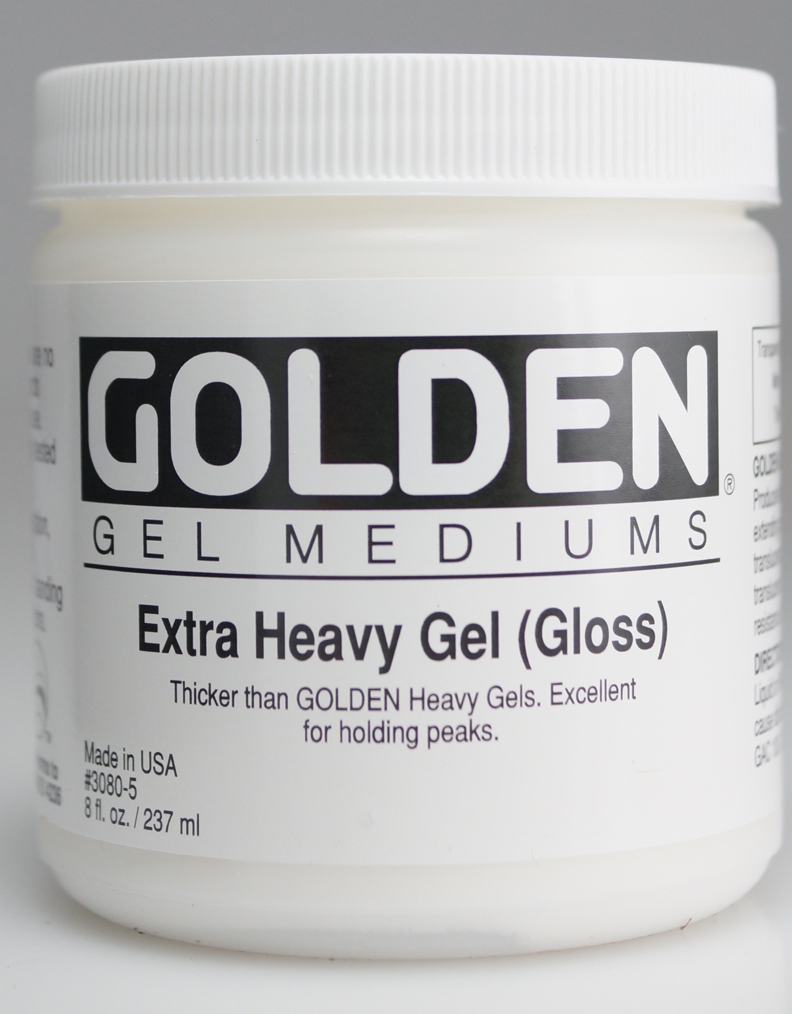 Golden, Extra Heavy Gel Medium, Gloss, 8oz Jar