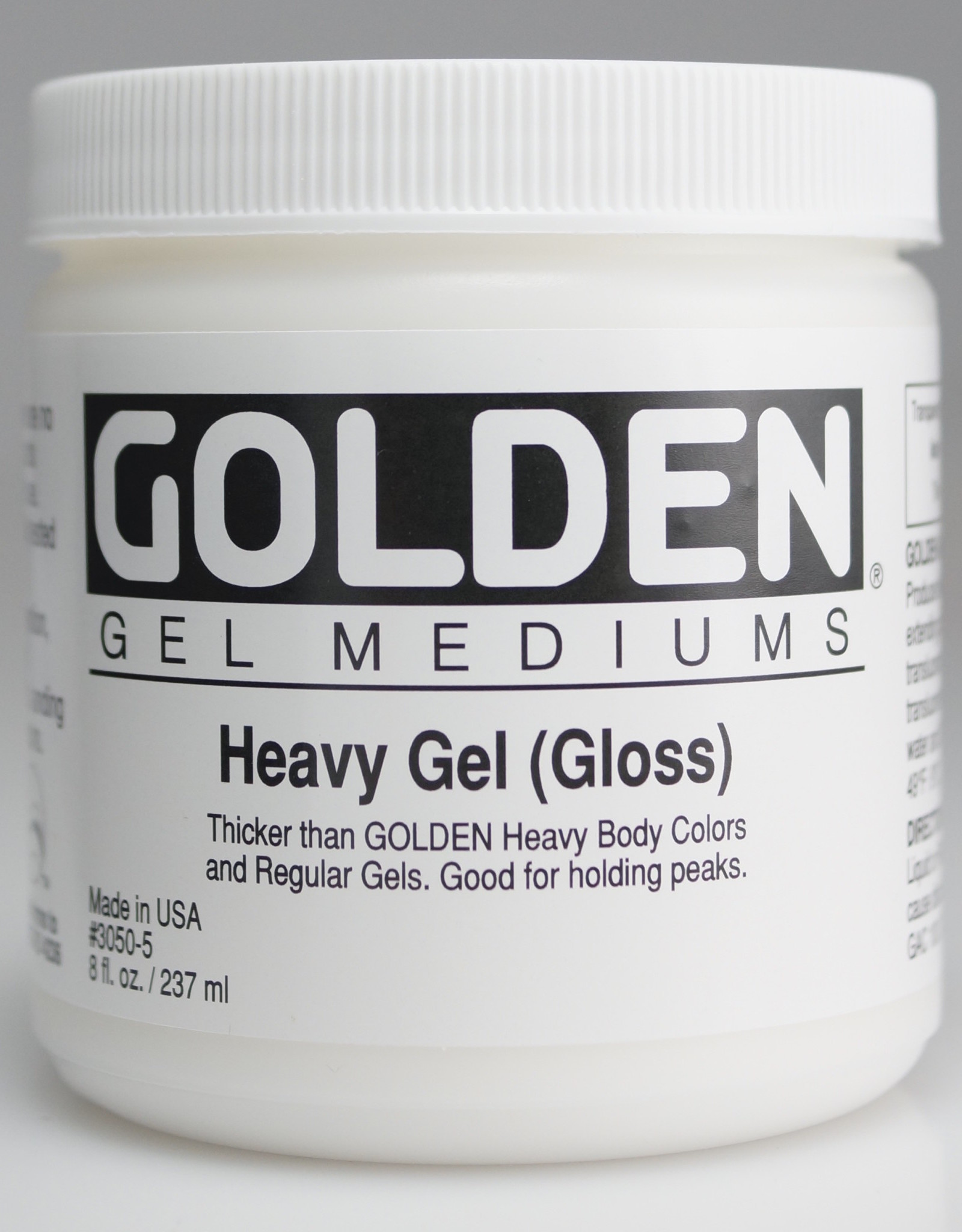 Golden, Heavy Gel Medium, Gloss, 8oz Jar