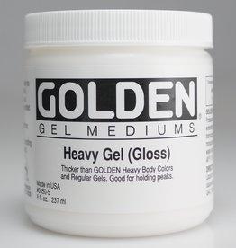 Golden, Heavy Gel Medium, Gloss, 8oz Jar
