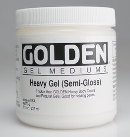 Golden, Heavy Gel Medium, Semi-Gloss, 8oz Jar