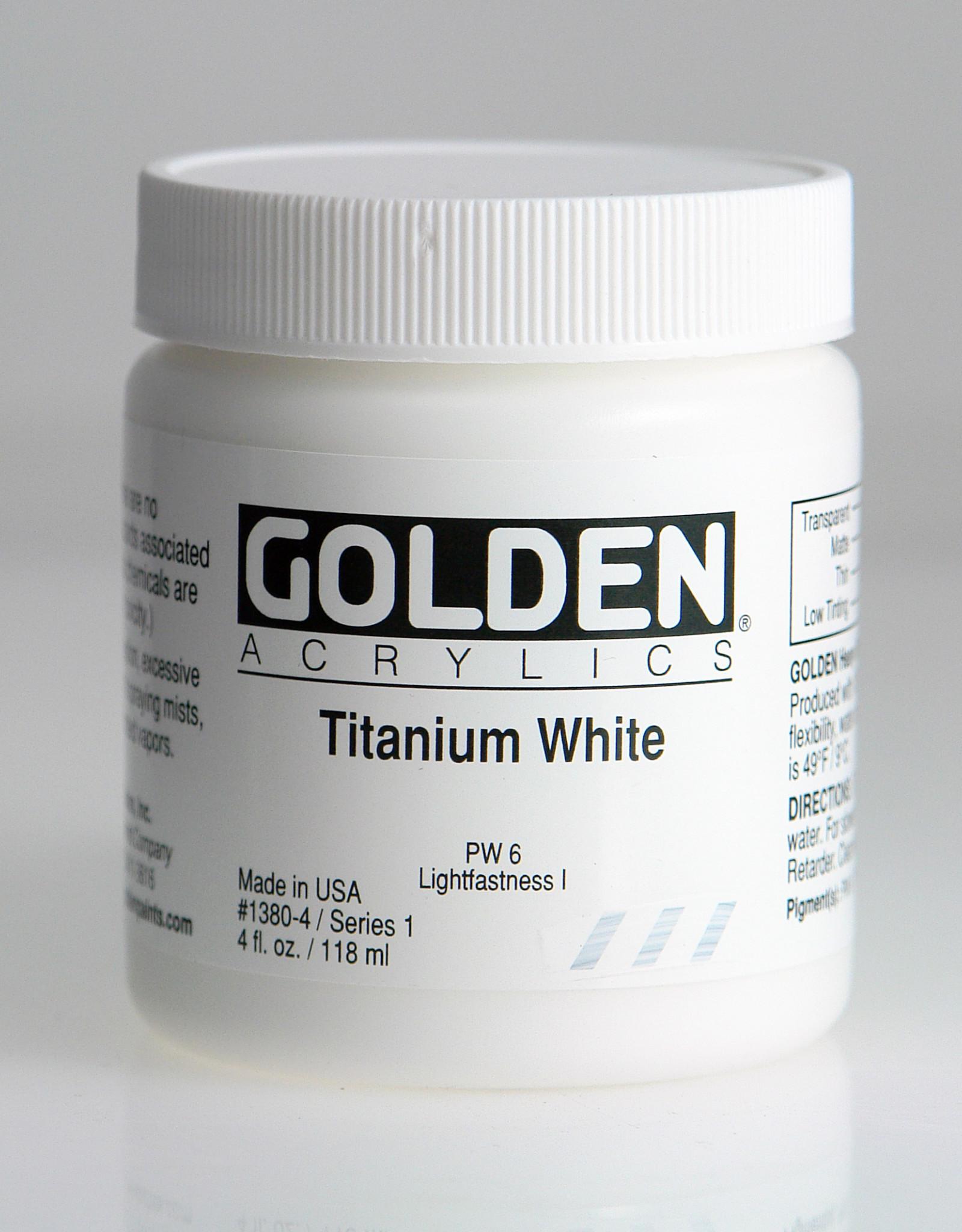 Golden, Heavy Body Acrylic Paint, Titanium White, Series 1, 4fl.oz. Jar