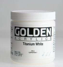 Golden, Heavy Body Acrylic Paint, Titanium White, Series 1,  8fl.oz. Jar