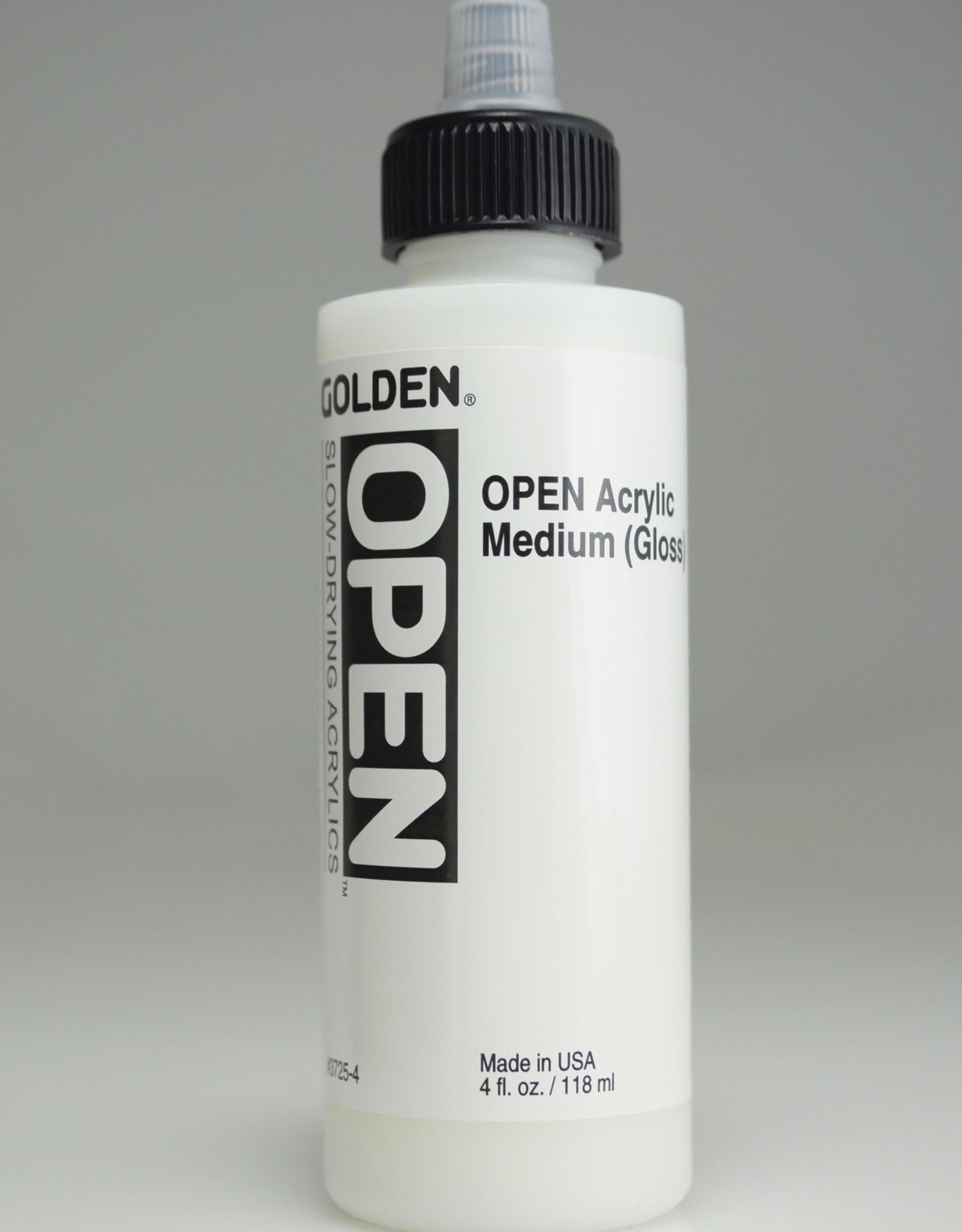 Golden OPEN Acrylic Medium, Gloss, 4 Fl Oz.