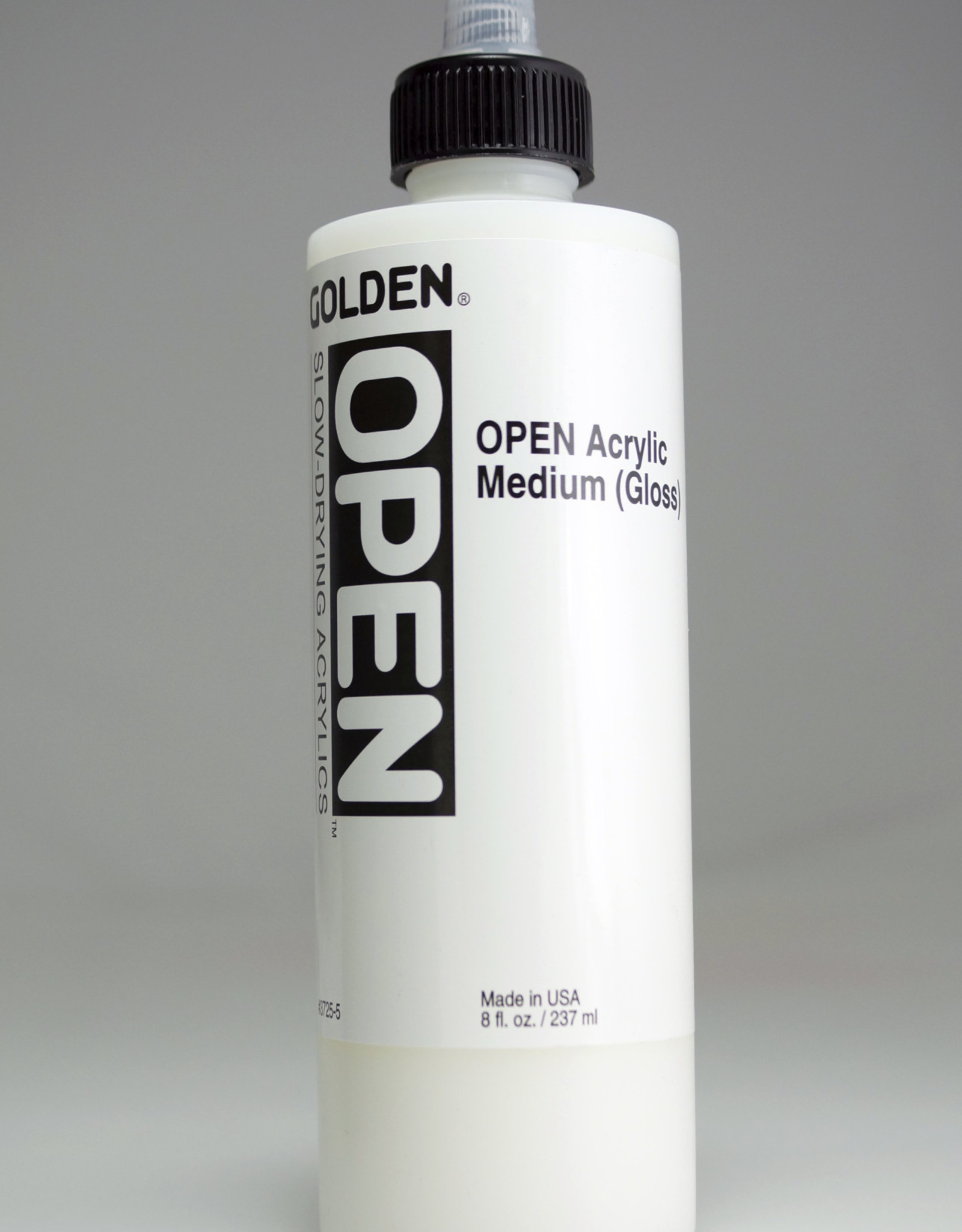 Golden OPEN Acrylic Medium, Gloss, 8 Fl Oz.