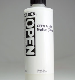 Golden OPEN Acrylic Medium, Gloss, 8 Fl Oz.