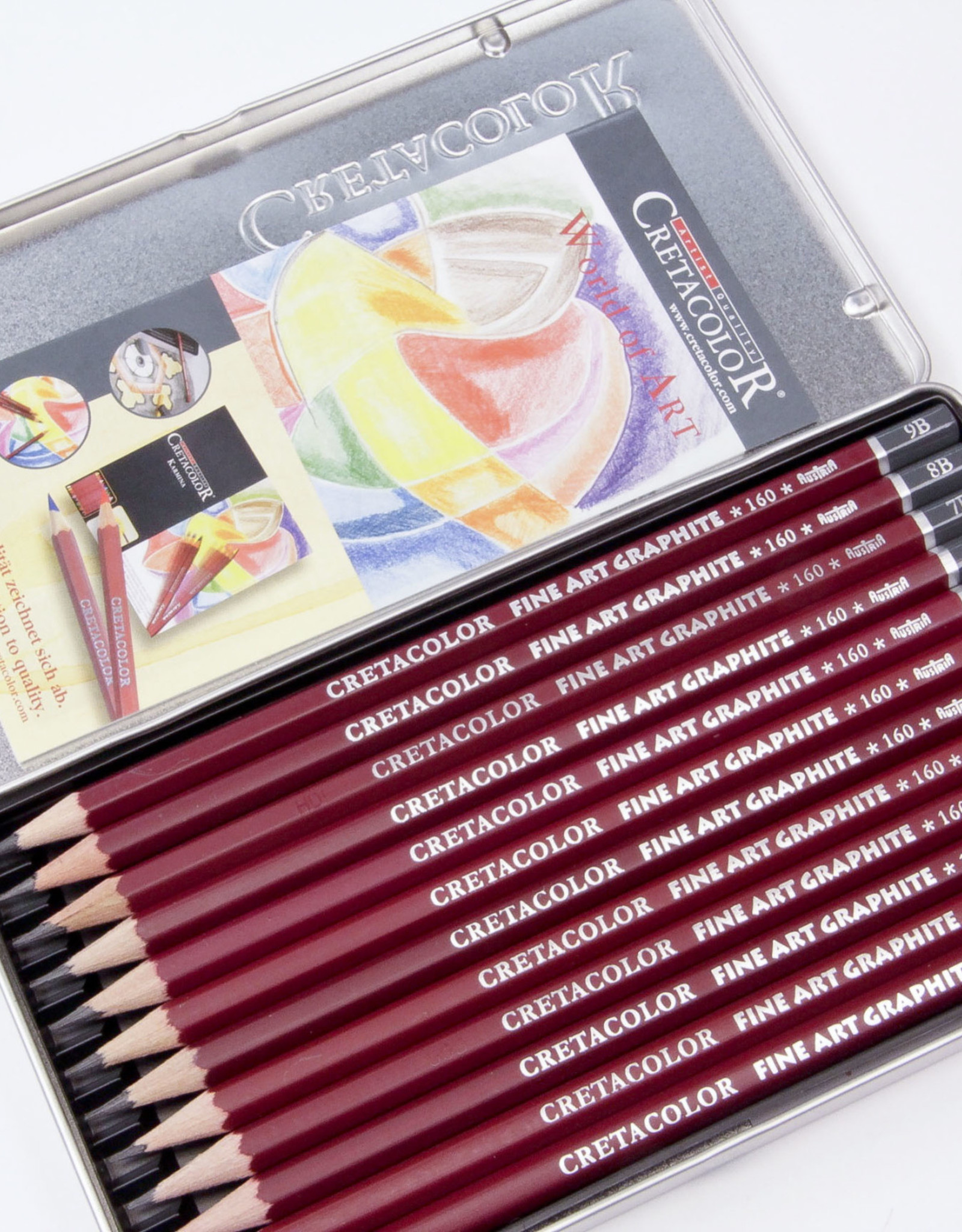 Cretacolor, Fine Art Graphite Set of 12 Pencils