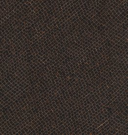 "Portuguese Corkskin Pattern #139 Dark Brown Grid, 20"" x 30"""