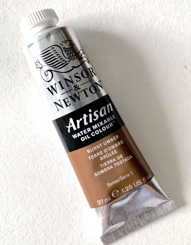Winsor & Newton Artisan Water Mixable Oil Paint, Burnt Umber, 37ml