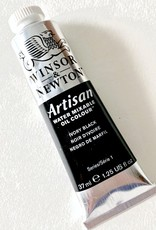 Winsor & Newton Artisan Water Mixable Oil Paint, Ivory Black, 37ml