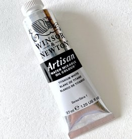 Winsor & Newton Artisan Water Mixable Oil Paint, Titanium White, 37ml
