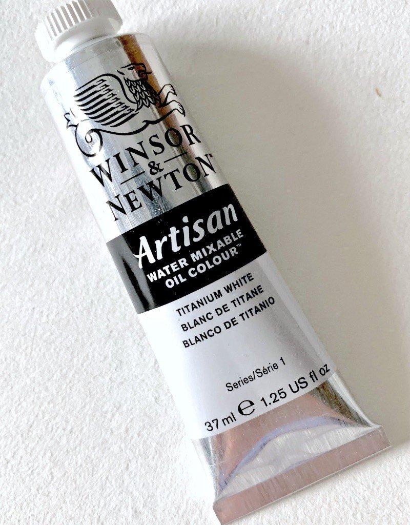 Winsor & Newton Artisan Water Mixable Oil Paint, Titanium White, 37ml