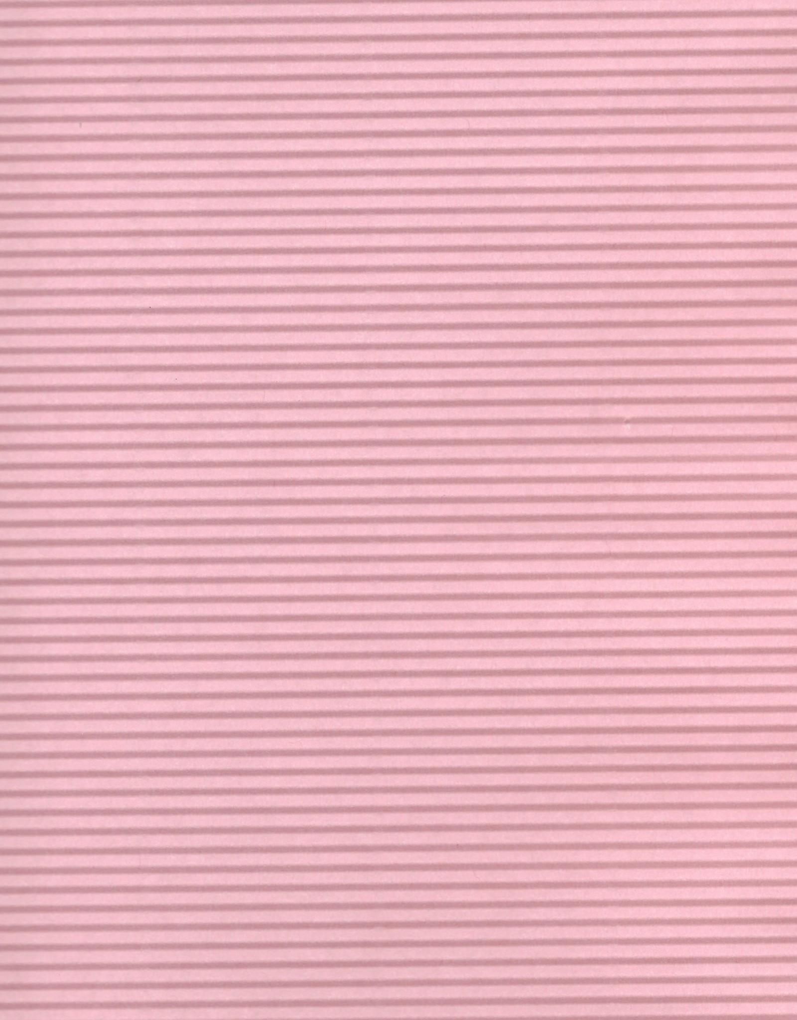 """Embossed Ridge Pink, 23"""" x 31"""", 60gsm"""