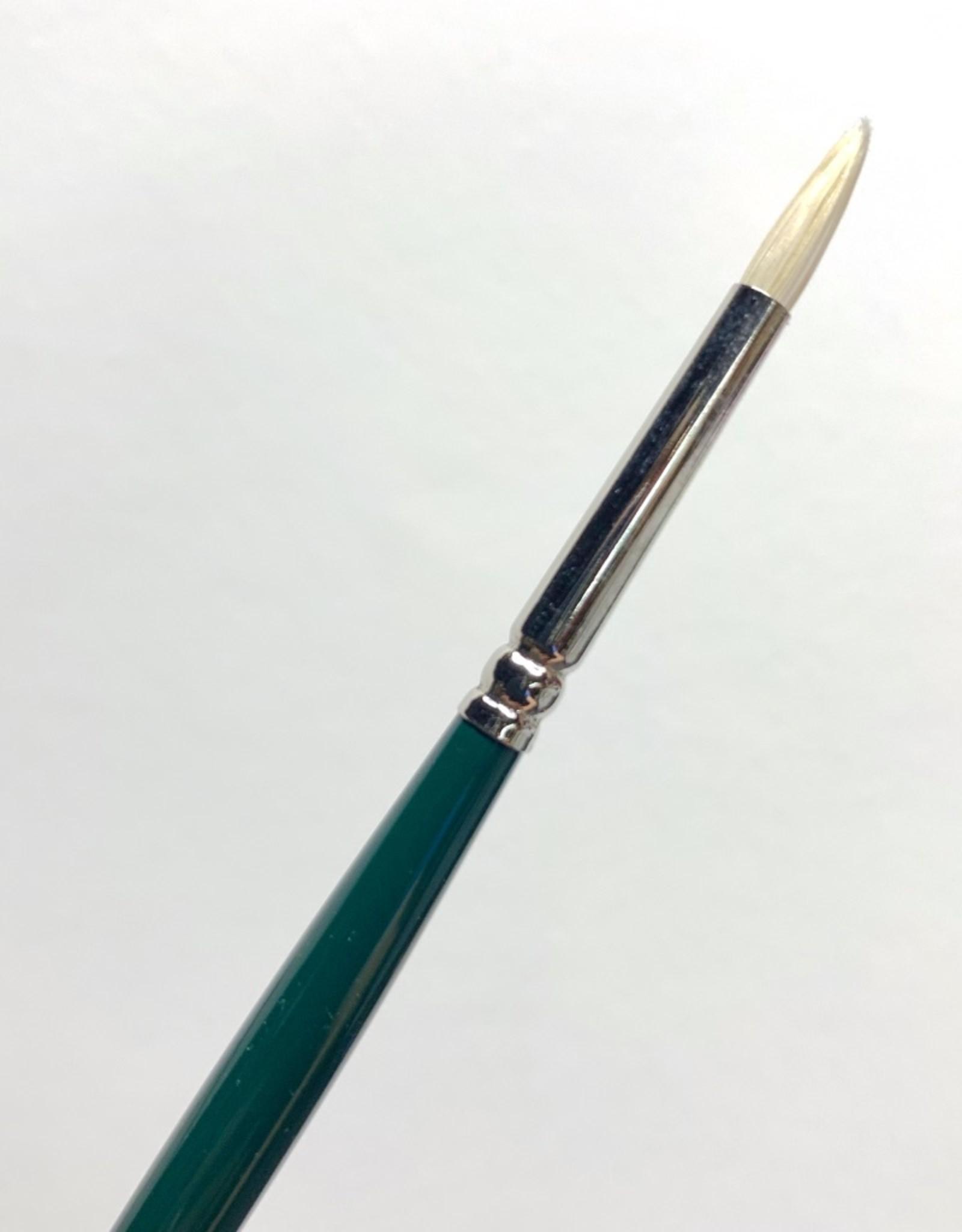 Winsor & Newton Brush, Round 1, Hog Hair for Oil or Acrylic Paint Bristle