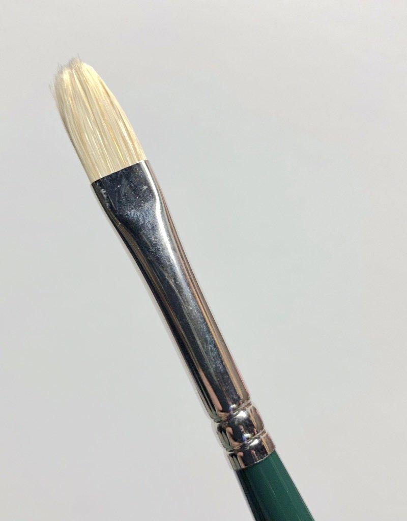 Winsor & Newton Brush, Filbert 4, Hog Hair for Oil or Acrylic Paint Bristle