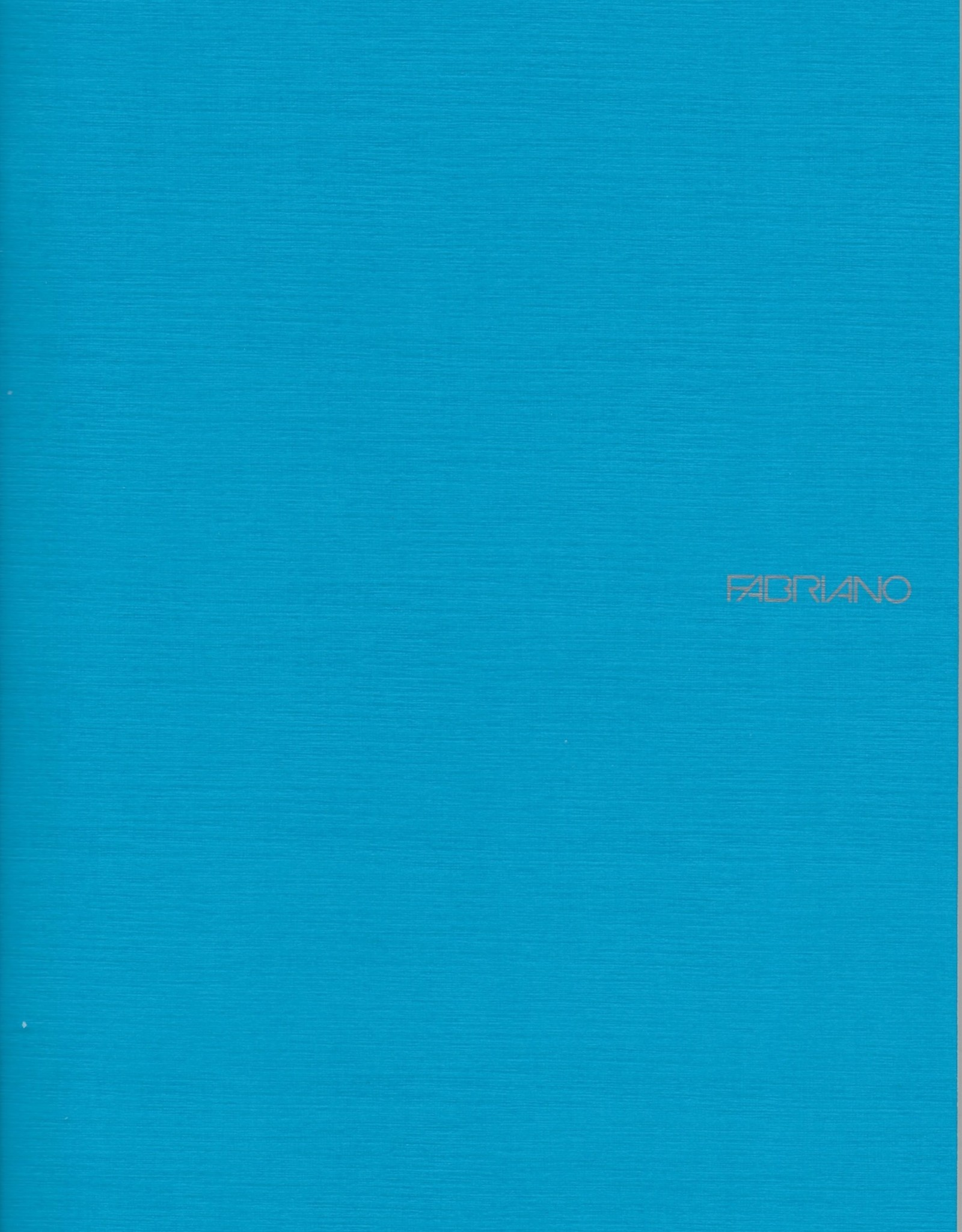 """Fabriano EcoQua Blank Notebook, Turquoise, 8.25"""" x 11.5"""" 40 Sheets"""