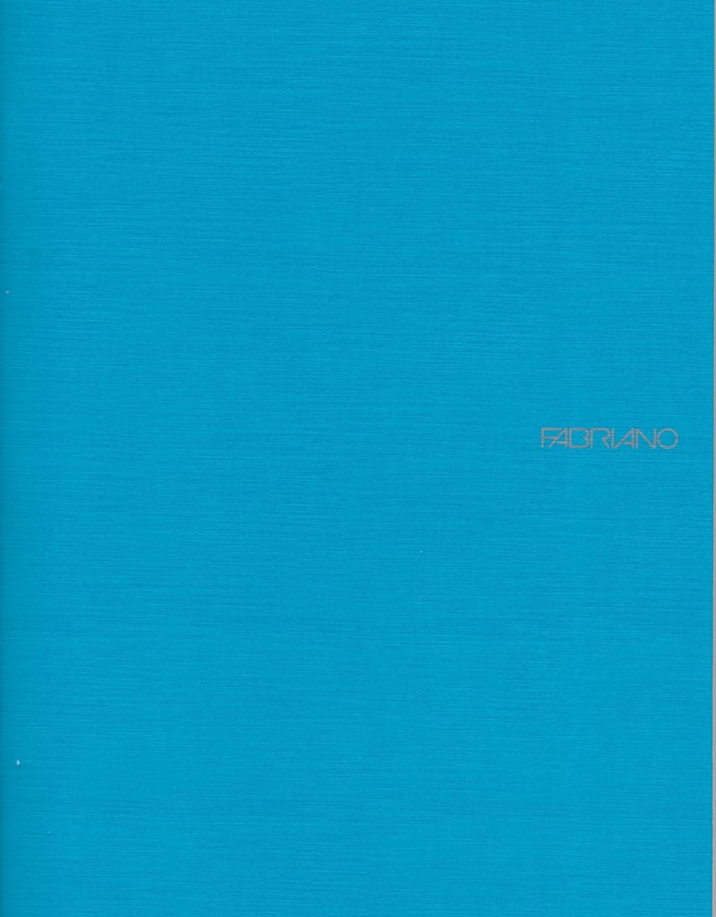 """Italy EcoQua Blank Notebook, Turquoise, 8.25"""" x 11.5"""" 40 Sheets"""