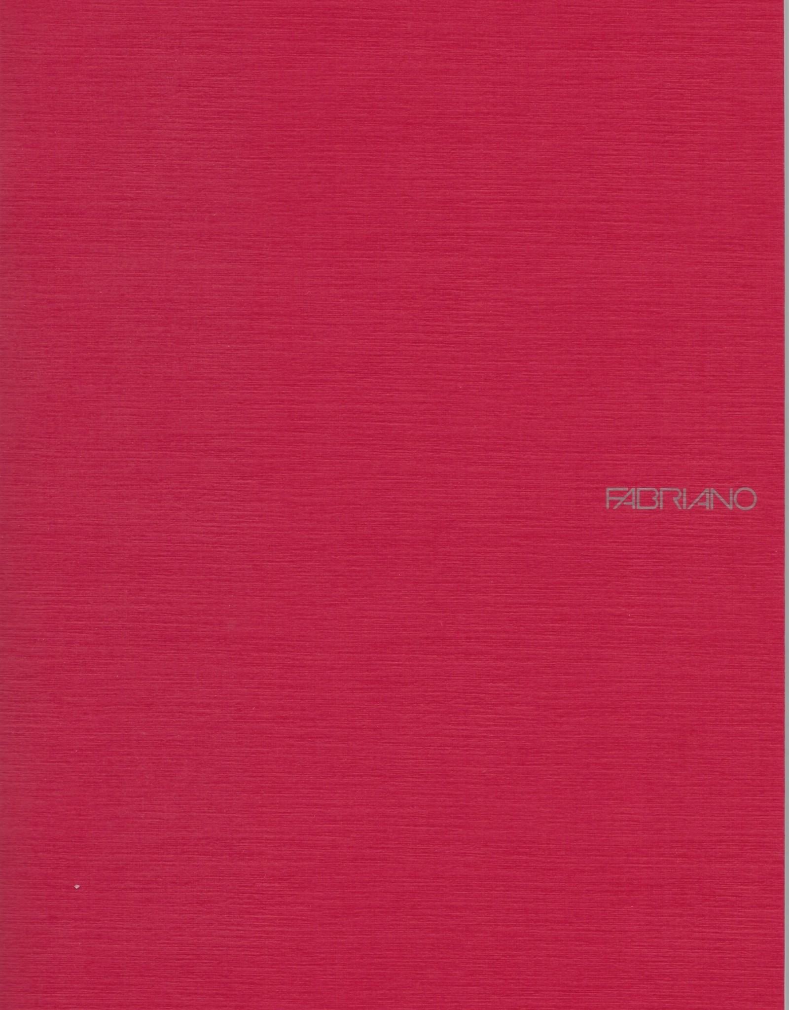 "Fabriano EcoQua Blank Notebook, Raspberry, 8.25"" x 11.5"" 40 Sheets"