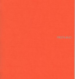 "Fabriano EcoQua Blank Notebook, Orange, 8.25"" x 11.5"" 40 Sheets"