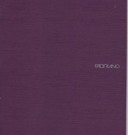 "Fabriano EcoQua Blank Notebook, Wine, 8.25"" x 11.5"" 40 Sheets"