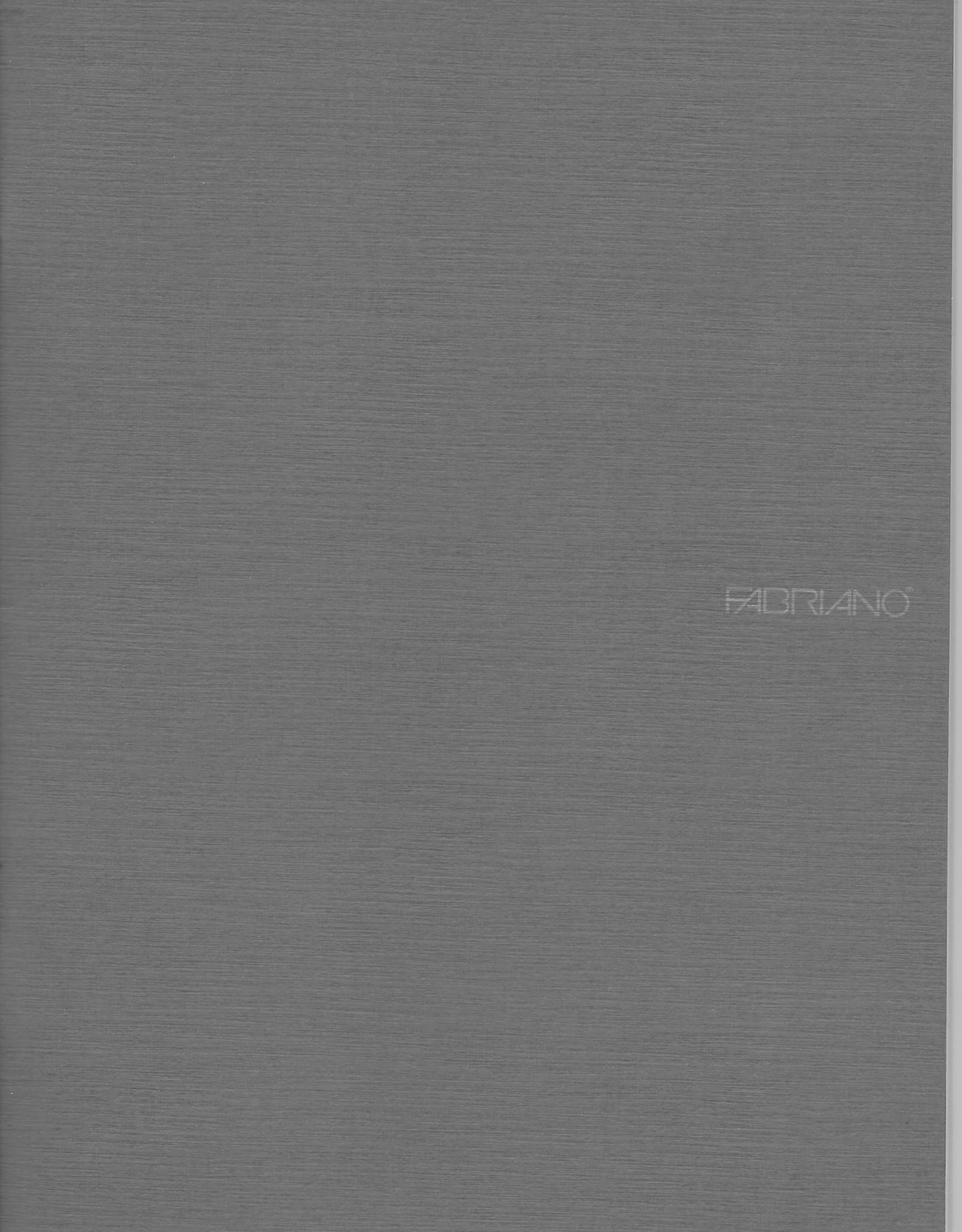 "Fabriano EcoQua Blank Notebook, Stone Grey, 8.25"" x 11.5"" 40 Sheets"