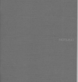 "Fabriano EcoQua Blank Notebook, Stone Grey, 8.25"" x 11.5"" 40 Sheets"