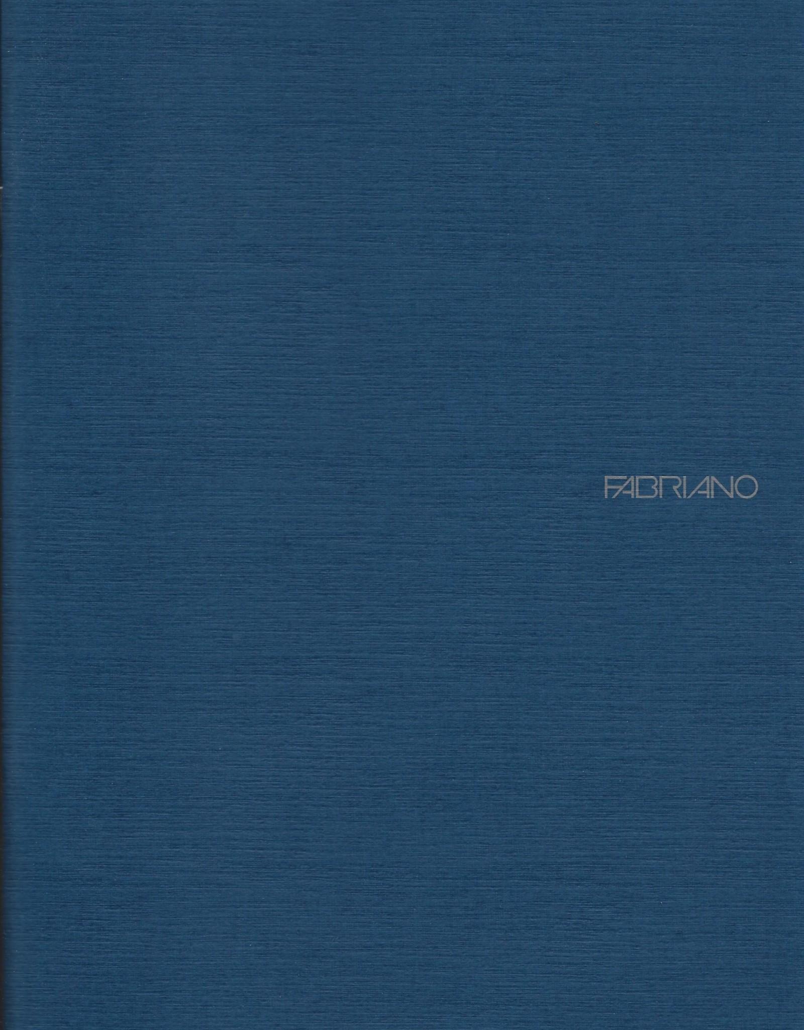 "Fabriano EcoQua Blank Notebook, Navy, 8.25"" x 11.5"" 40 Sheets"