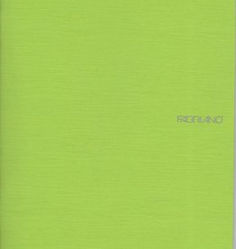 "Fabriano EcoQua Blank Notebook, Lime, 8.25"" x11.5"" 40 Sheets"