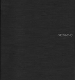 "Fabriano EcoQua Blank Notebook, Black, 8.25"" x 11.5"" 40 Sheets"