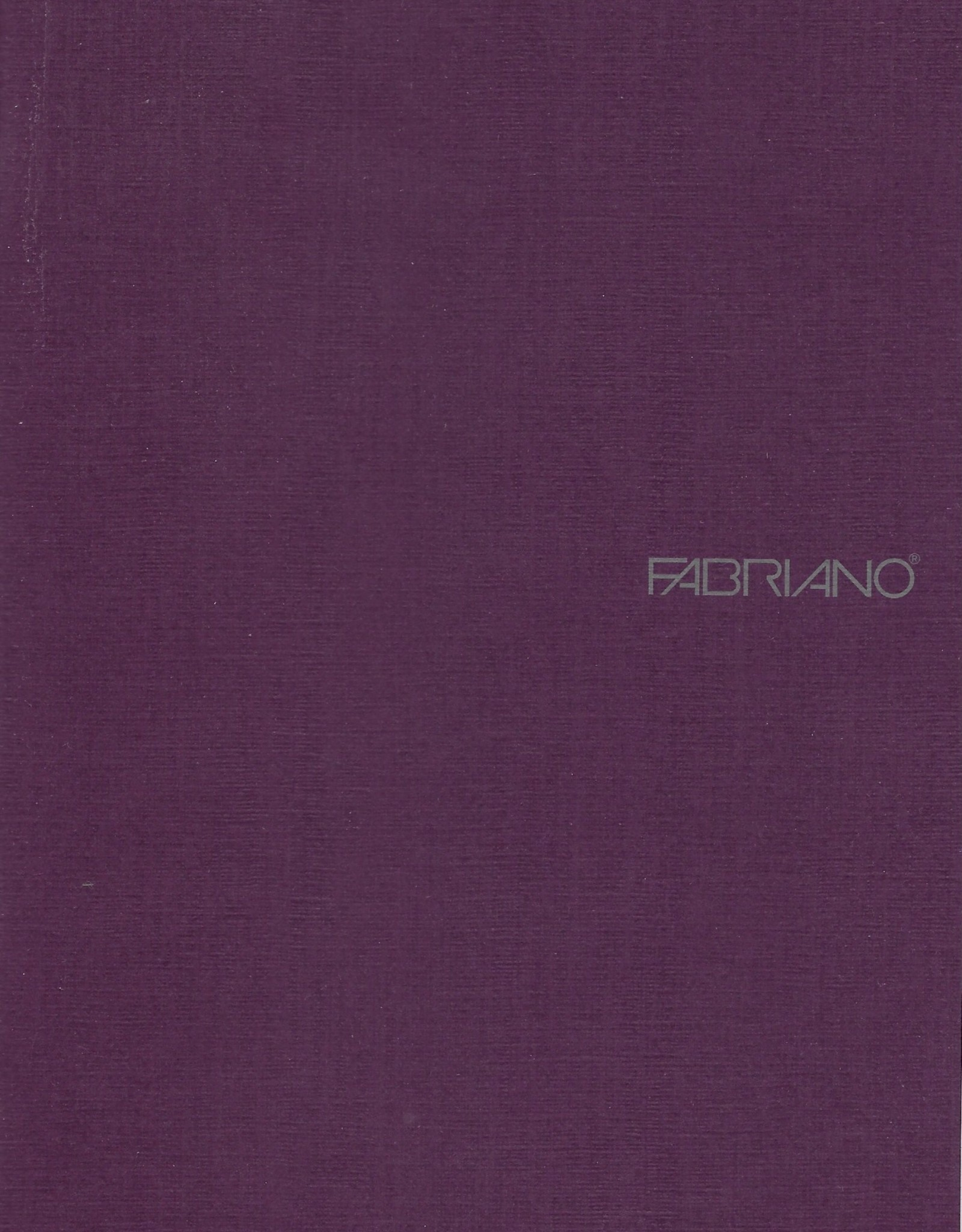 "Fabriano EcoQua Blank Notebook, Wine, 5.75"" x 8.25"" 40 Sheets"