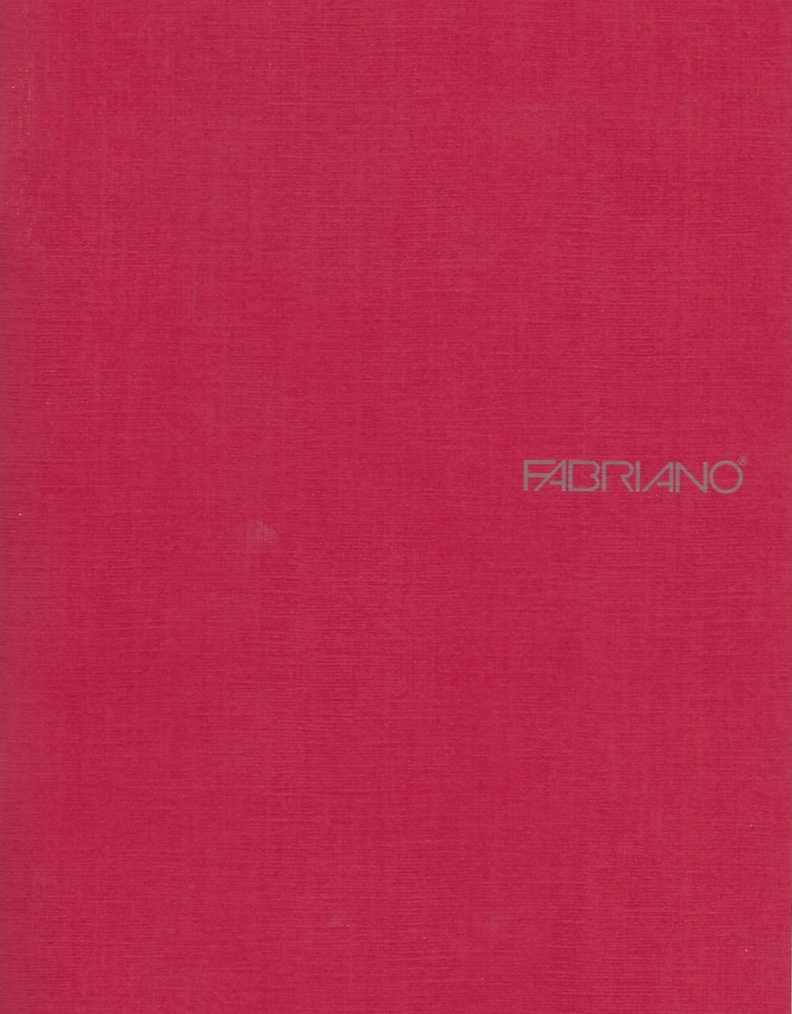 "Fabriano EcoQua Blank Notebook, Raspberry, 5.75"" x 8.25"" 40 Sheets"