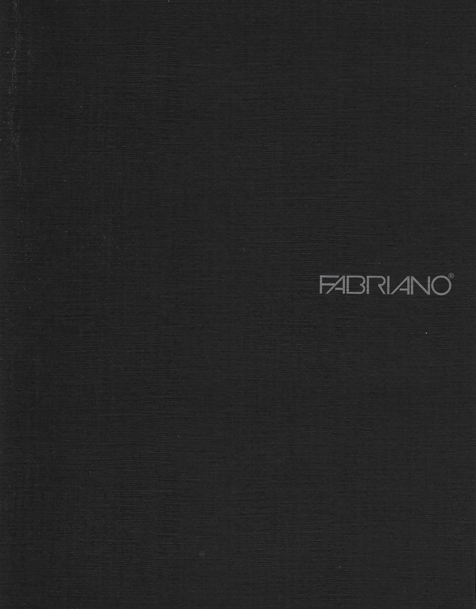 "Fabriano EcoQua Blank Notebook, Black, 5.75"" x 8.25"" 40 Sheets"