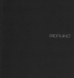 "Fabriano EcoQua Blank Notebook, Black, 5.75"" x 8.25"" 40 Sheets"
