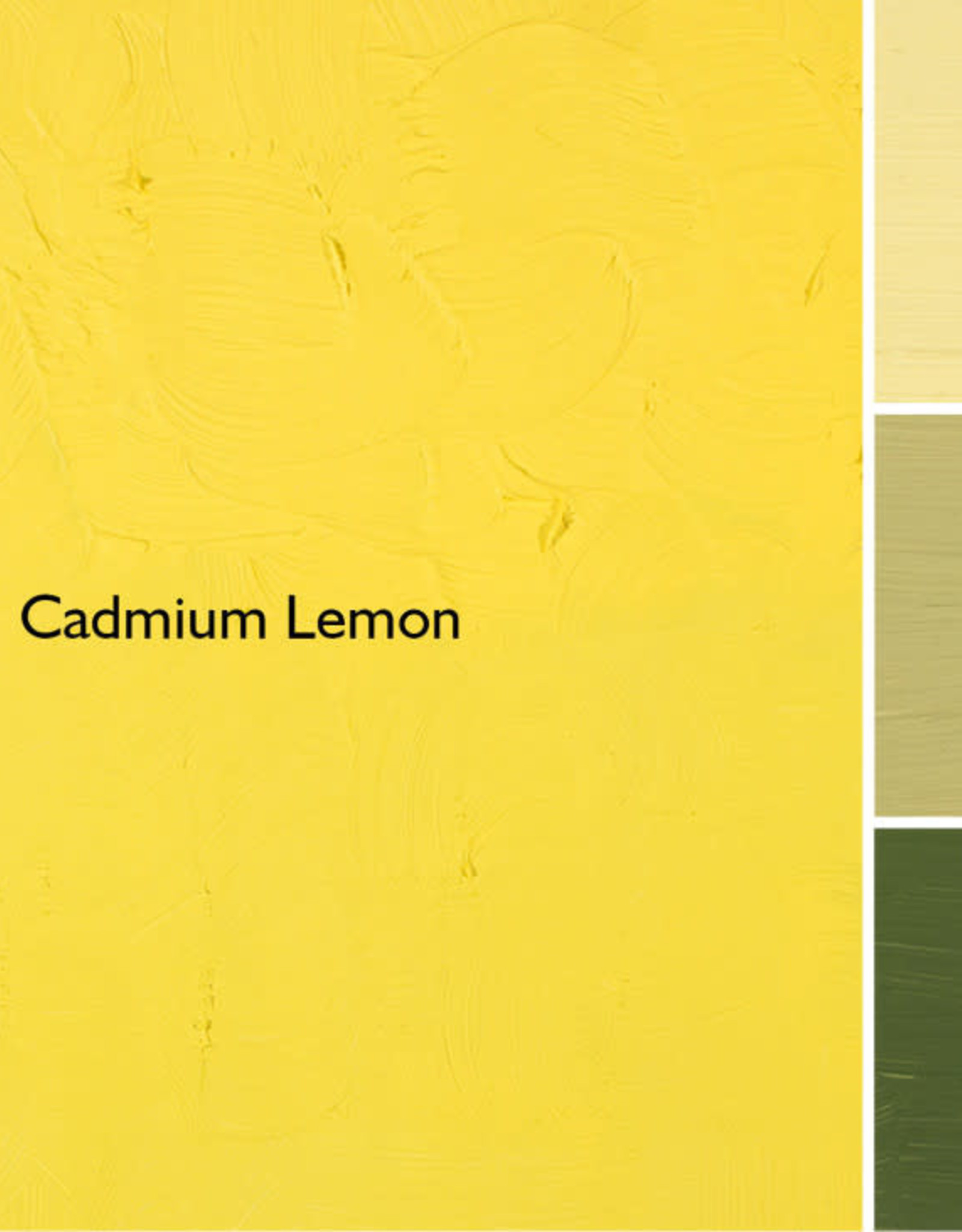 Gamblin Oil Paint, Cadmium Lemon, Series 4, Tube 37ml
