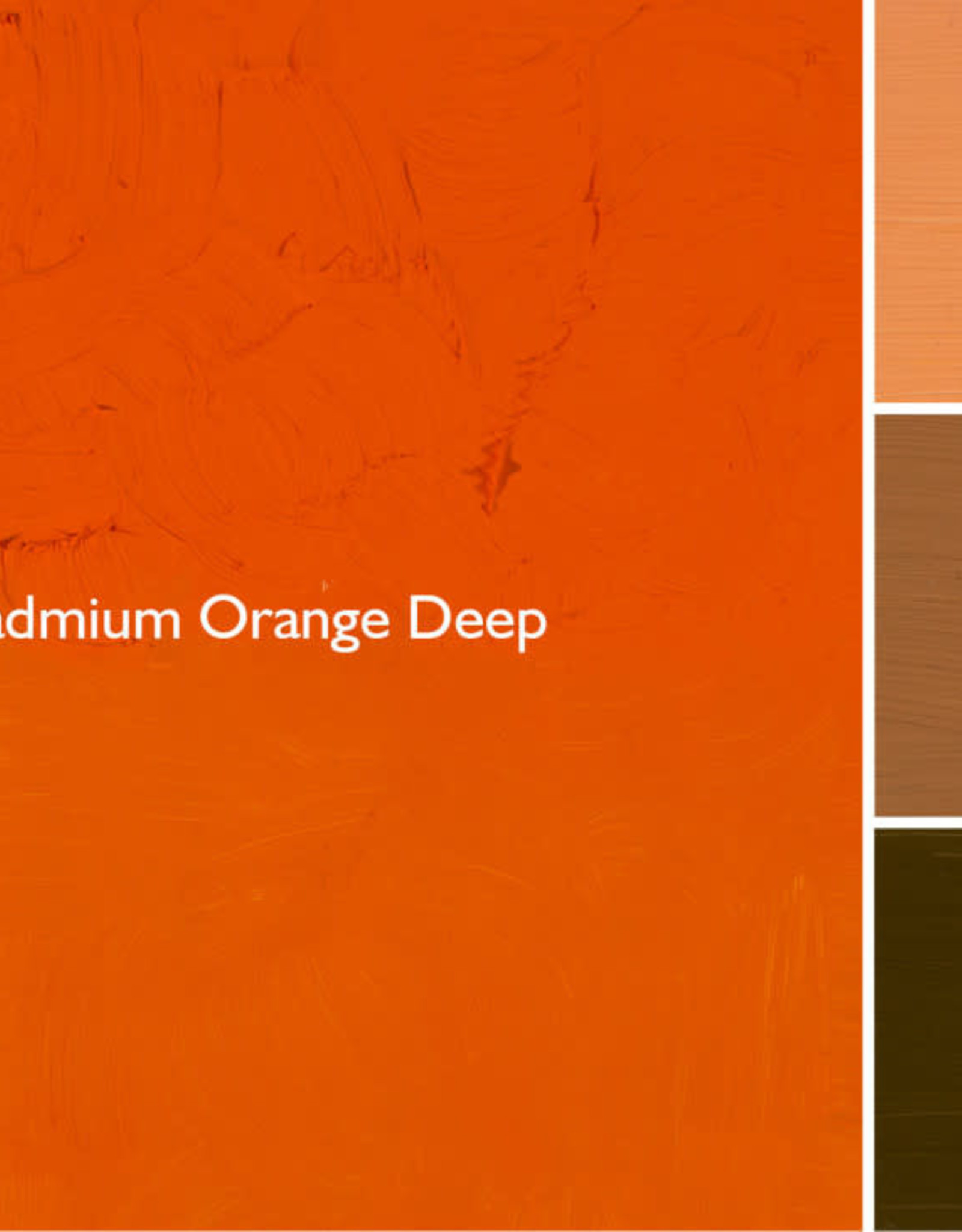 Gamblin Oil Paint, Cadmium Orange Deep, Series 4, Tube 37ml