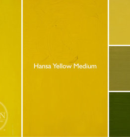 Gamblin Oil Paint, Hansa Yellow Medium, Series 3, Tube 37ml