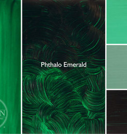 Gamblin Oil Paint, Phthalo Emerald, Series 2, Tube 37ml