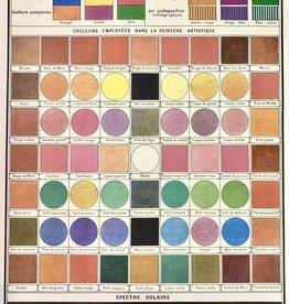 """Cavallini Color Map, Cavallini Poster Print, 20"""" x 28"""""""