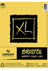 "Canson XL Bristol Smooth, 9"" x 12"", 100#, 25 sheet Pad"